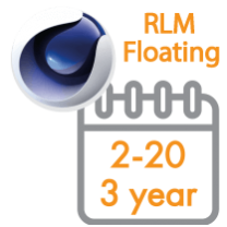 Cinema 4D Multi-Seat RLM Floating Subscription 3 Years 2 - 20 seats (Price per seat)