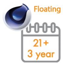 Cinema 4D Multi-Seat Floating Subscription 3 Years 21+ seats (Price per seat)