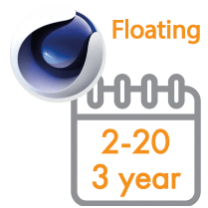 Cinema 4D Multi-Seat Floating Subscription 3 Years 2 - 20 seats (Price per seat)