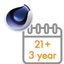 Cinema 4D Multi-Seat Subscription 3 Years 21+ seats (Price per seat)