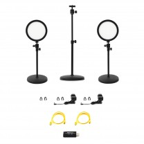 HomeStream Kit #1 with 2 Desktop Lights, HDMI Capture Device, and Variable Height Camera Stand