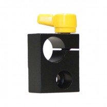 Right Angle 15mm Rod Adapter w/ Adjustable Thumbscrew