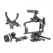 STRATUS Cage Kit for Blackmagic Pocket Cinema Camera 4K w/ Follow Focus and Lens Support