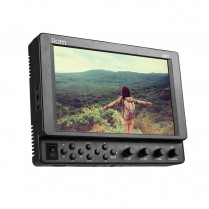 "VXF7 7"" 4K Support Full HD HDMI/3G-SDI On-Camera Monitor 1920x1200 LCD Panel w/ Canon LP-E6 & Sony L Battery Plates"