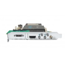 12G-SDI I/O, 10-bit PCIe Card, HDMI 2.0 output with HFR support (PCIe power with no cable)