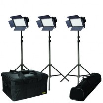 Kit with 3 X IFB576 lights w/ AB and V-Mount Battery Plates