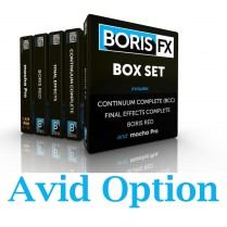 Boris Box Set Avid Option (RED; Boris Continuum Complete; Final Effects Complete & Mocha Pro