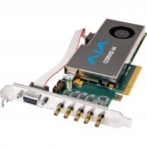 Standard-profile 8-lane PCIe, 4 x SDI independently configurable,  no cables included