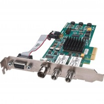 4-lane PCIe card with 3G / HD / SD Fiber I/O, Genlock/LTC, 16-ch embedded audio, RS-422