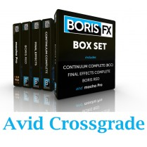 Boris Box Set Crossgrade Avid Option (RED; Boris Continuum Complete (Avid/Adobe/Apple/OFX); Final Effects Complete & Mocha Pro)