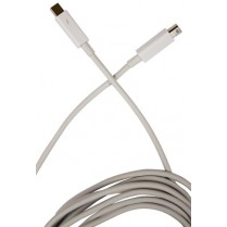Thunderbolt Cable, White, Active-Active - 1 metre