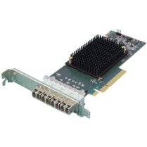 Quad-Channel 16Gb/s Gen 6 Fibre Channel PCIe 3.0 Host Bus Adapter - includes SFFs (CTFC-164P-000)
