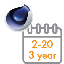 Cinema 4D Multi-Seat Subscription 3 Years 2 - 20 seats (Price per seat)