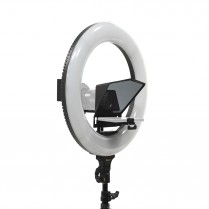 HomeStream Smartphone Teleprompter  w/ 18″ Ring Light & Stand