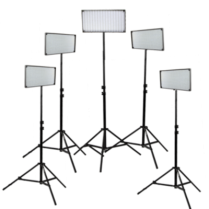 Kit with 5 x IB508-v2 LED Studio Lights