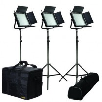 Kit with 3 X IFB1024 lights w/ AB and V-Mount Plates