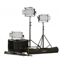 ID500-PLUS-3PT-KIT Kit with 3 x ID500-v2 Lights, Yoke, and AB Mounting Plates