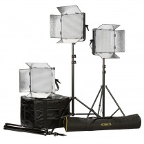 ID1000-PLUS-3PT-KIT Kit with 3 x ID1000-v2 Lights, Yoke, and AB Mounting Plates