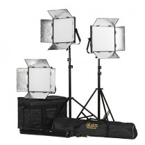 Kit with 3 x Lyra Daylight 1 x 1 LED Soft Lights