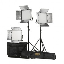 Kit with 3 x Rayden Bi-Color 1 x 1 LED Lights