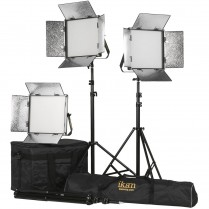 Kit with 3 x Rayden Daylight 1 x 1 LED Lights