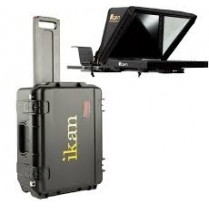 """Professional 12"""" Beam Splitter Portable Teteprompter with Rolling Hard Case"""