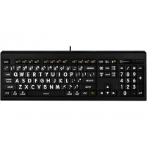 LargePrint White on Black - Mac ASTRA Backlit Keyboard - US