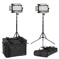 Mylo Soft Bi-Color 2-Point LED Light Kit With 2 X MSB8, Includes DV Batteries, Stands, and Bags
