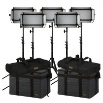 Mylo Soft Bi-Colour 5-Point Led Light Kit With 5 X MSB8, Includes DV Batteries, Stands, and Bags
