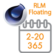 Cinema 4D Multi-Seat RLM Floating Subscription 1 Year 2 - 20 seats (Price per seat)