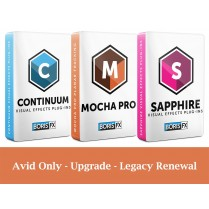 Bundle: Sapphire + Continuum + Mocha Pro Avid Only - Upgrade from previous version - Legacy Renewal