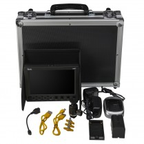VXF7 4K Support HDMI/3G-SDI Field Monitor Deluxe Kit - Sony L Series Battery Plate